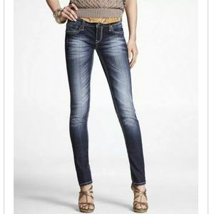 ReRock for EXPRESS Thick-Stitch Skinny Jeans NEW!